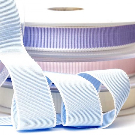 GROS-GRAIN RIBBON (WHITE EDGE)